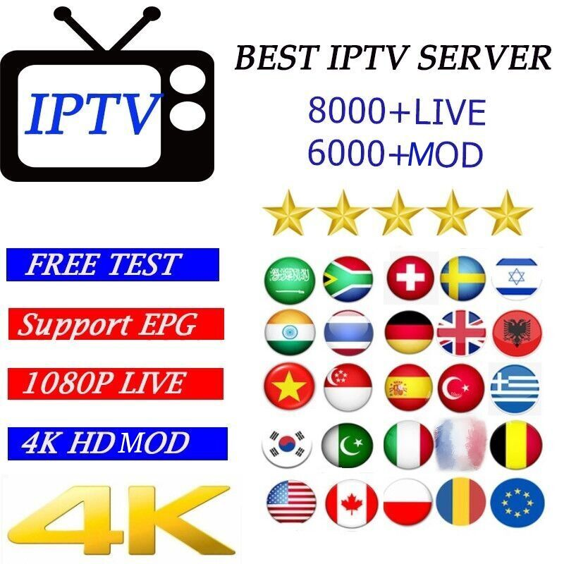 Full HD World IPTV+8000 Live Xxx VD Adult 4K Europe Dutch Israel Spain Portugal Itlay Arabic USA IPTV Subscription Smart TV M3U
