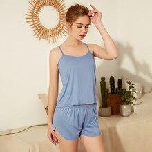 Pijamas para mulher conjunto de pijama para mulher doce macio confortável manga curta t camisas & shorts pijamas de verão