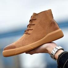 Мужские ботинки из натуральной кожи размера плюс; Обувь для