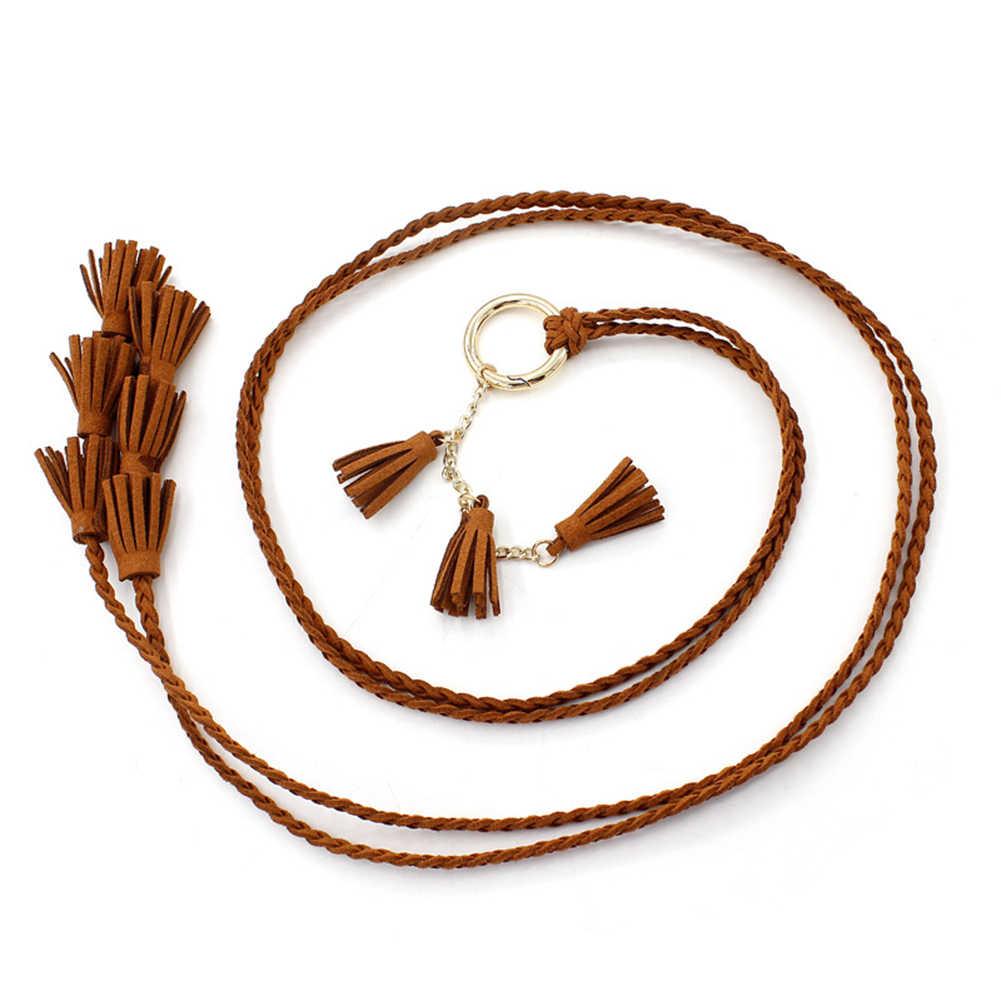 Catena di Vita 1 Pc Cintura Intrecciata Tessuto Nappe Cinture Cintura Vendita Calda Corda Della Vita Delle Signore di Modo Nappa Delle Donne Decorato Vita