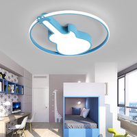 Bedroom lamps modern children's room personality warm bedroom lamp creative Music Violin Shape Kids Ceiling Light Bedroom Lamp