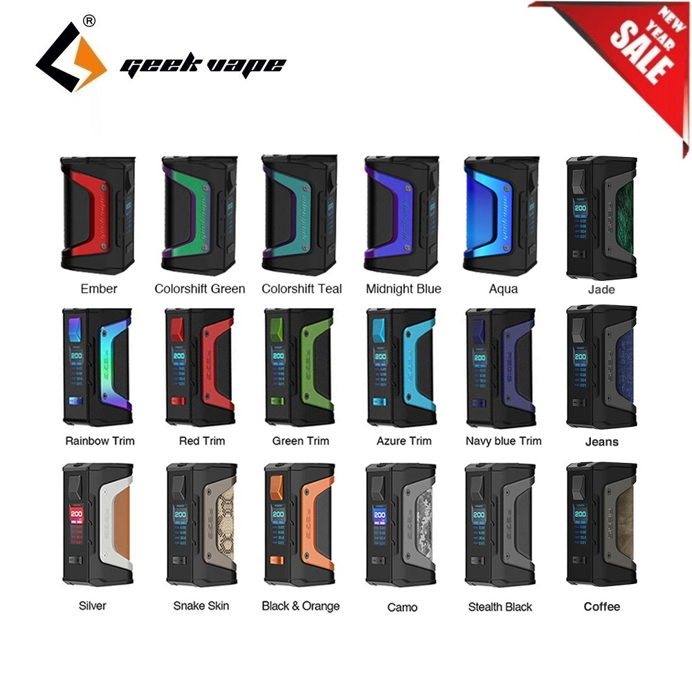 New Year Sale GeekVape Aegis Legend Box MOD 200w Mod Powered By Dual 18650 Batteries E Cigs Mod No Battery Vs Aegis X/ Aegis OLO