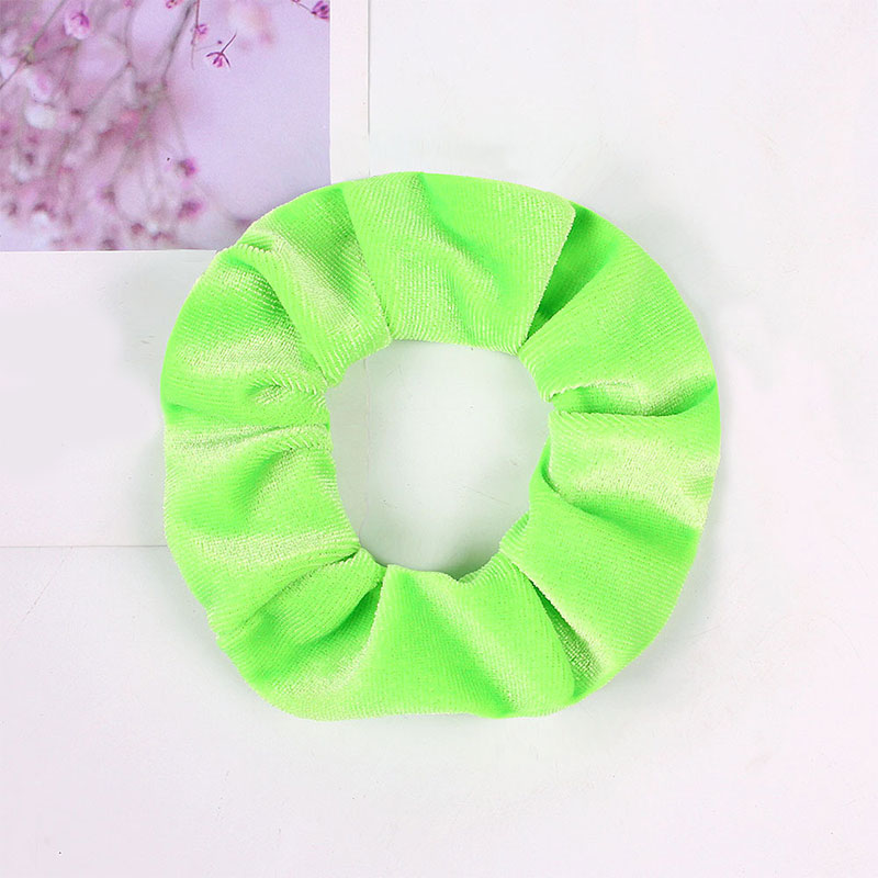 1 шт., женское эластичное кольцо для волос, зимние мягкие бархатные резинки, резинки для волос, милые одноцветные аксессуары для волос, держатель для конского хвоста - Цвет: Velvet-19