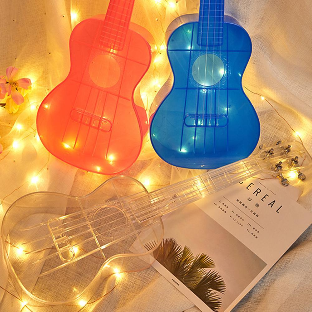 Hot Sale 23 Inch Transparent Ukulele Waterproof Outdoor Hawaiian Small Guitar Ukulele  Musical Instrument Guitar Ukelele