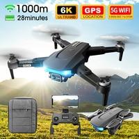 Eachine y LSRC LS38 Drone Profesional HD 6K Mini cámara RC Quadcopter con 5G WIFI GPS Motor sin escobillas 4CH helicóptero RC