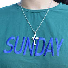 316L Stainless Steel Cross Necklaces & Pendants Women Men High Polished Pendant Christian Religious Necklace Christmas Jewelry