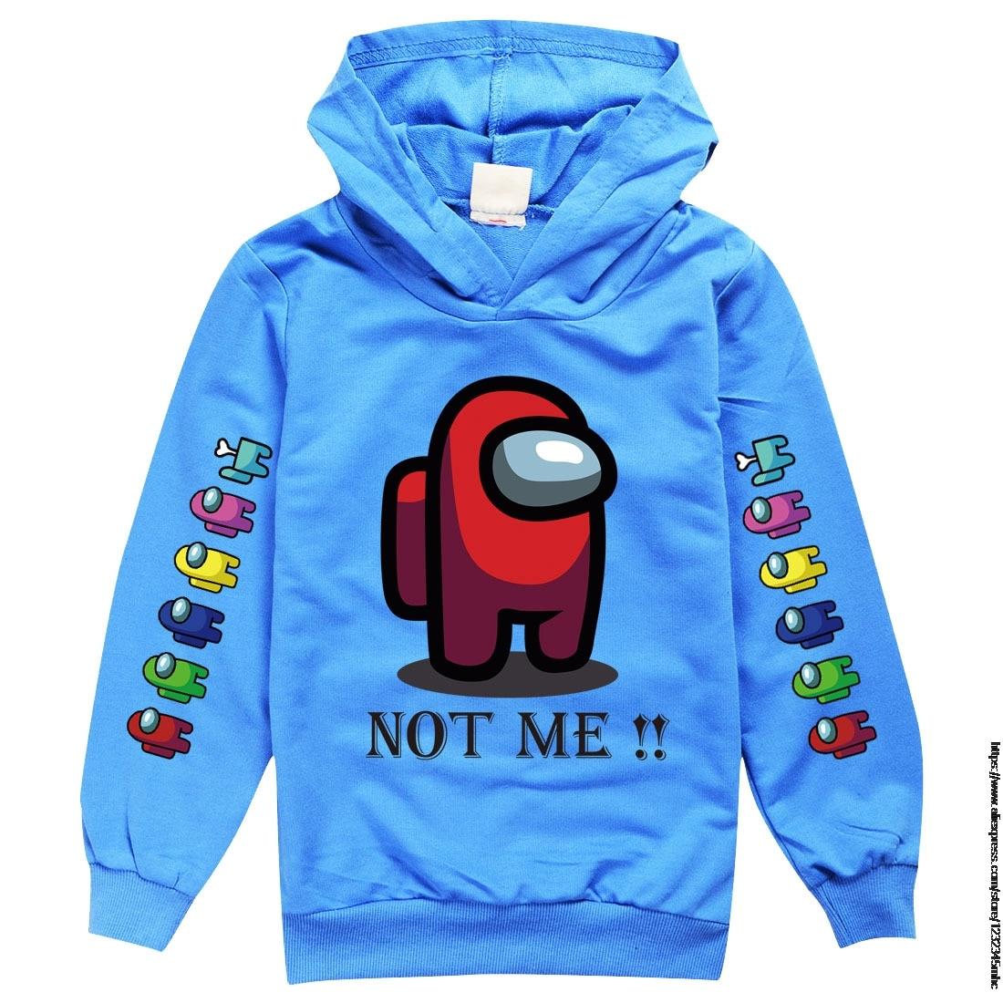 autumn fashion Hoodie hot game Among Us boys dress as Sweatshirt girls Sweatshirt winter warm 3D printed top children's clothes