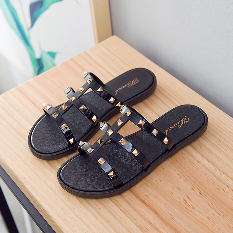 Fashion Women Slides Summer Rivet Slippers Women Shoes Flip Flops Sandals Upstream Lady Shoes Beach Slides Zapatillas Mujer 3