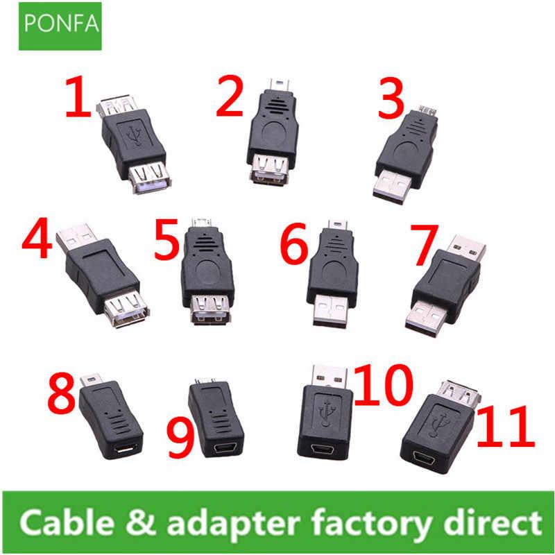 أنماط متعددة USB وتغ البسيطة USB مايكرو 5pin محول محول USB الذكور إلى الإناث المصغّر USB محول الأدوات