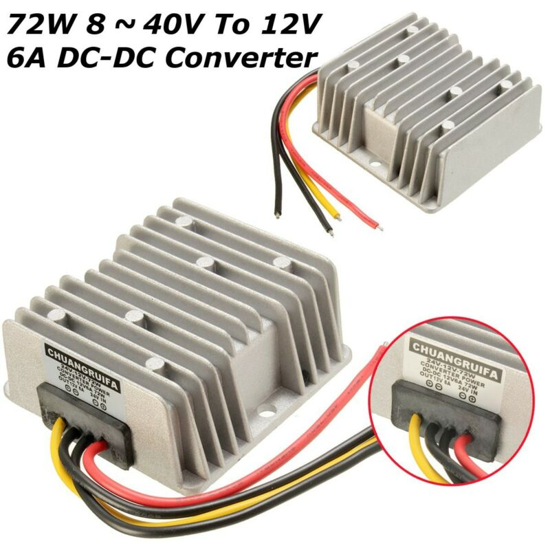 Waterproof Vehicle Automatic Voltage Stabilizer Regulator DC8-40V To 12V 6A 72W