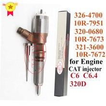 ORLTL-inyector de combustible diésel para excavadora de orugas, 3264700, 10R7951, 3200680, 10R7673, 3213600, 10R7672, 320D, 320D, FM, 320D, GC, 320D, L, nuevo
