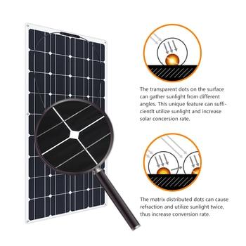Boguang 2 pcs 100w semi flexible Solar Panel 200W placa solar Photovoltaic monoctrystalline 12v 24V battery/yacht/RV/car/boat RV 4