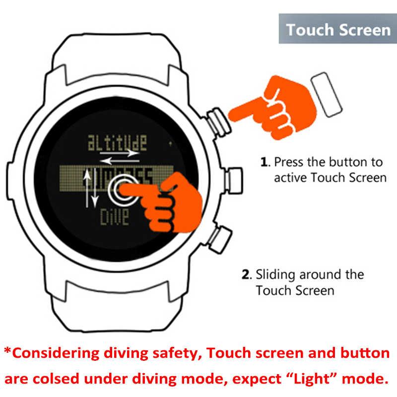 2019 新メンズ腕時計防水 100 150m スマートデジタル軍事腕時計 50 男ダイブスイミングスポーツウォッチ高度計バロメーターコンパス時計