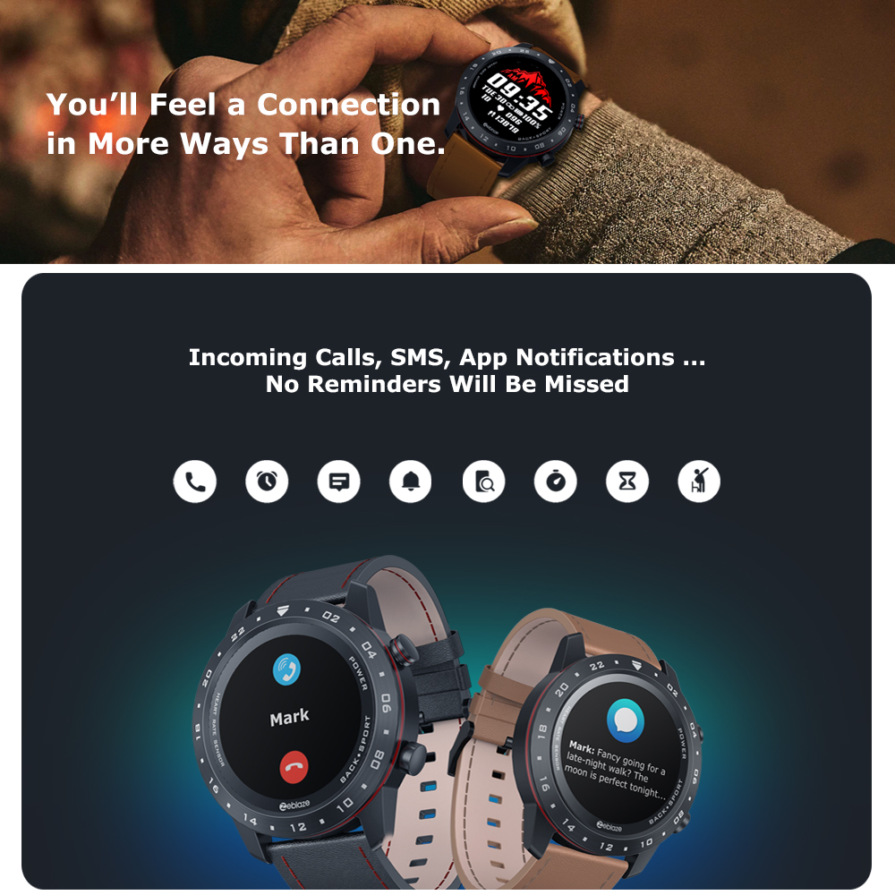 The New 2020 Zeblaze NEO 2 Smartwatch Health&Fitness Waterproof/Better Battery Life Classic Design Bluetooth 5.0 For Android/IOS 5
