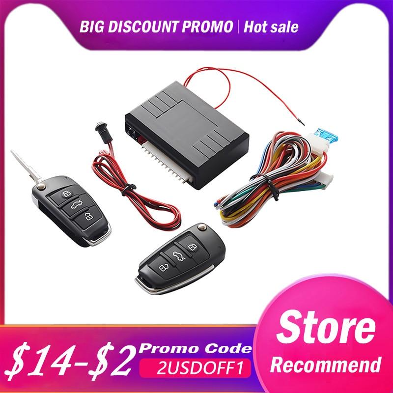 12 V bot/ón de arranque a distancia unidireccional sistema de alarma de coche kit de sistema de entrada sin llave Sistema de entrada sin llave