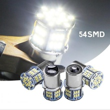 2x Led استبدال لمبات للسيارات 1156 BA15S P21W 3014 54SMD الذيل ضوء بدوره إشارات ضوء DC12 24V مصدر ضوء السيارة