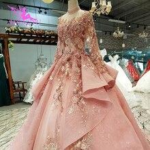 AIJINGYU Glitter Bruiloft Tule Jurken Voor Bruid Zuid afrika Luxe Lange Witte Plisse Gown Trouwjurk Verenigde Staten