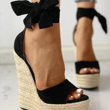Women Summer Wedge Sandals Female Platform Bohemia High Heel Sandals
