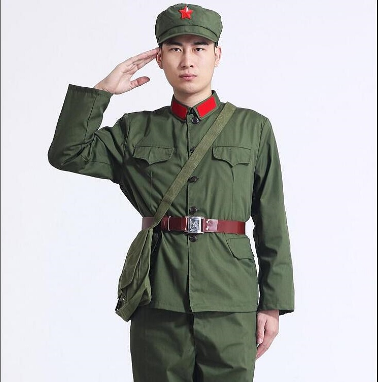 Korea War China Land Force Old Army Uniform Vietnam War Soldiers Suits Stage Show Nostalgia Military Costume Red Guard Clothes