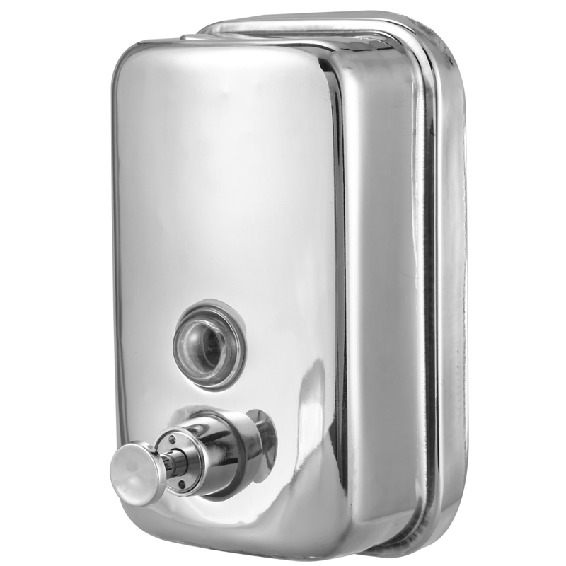 500ml Bathroom Stainless Steel Wall Mounted Lotion Pump Soap Shampoo Dispenser