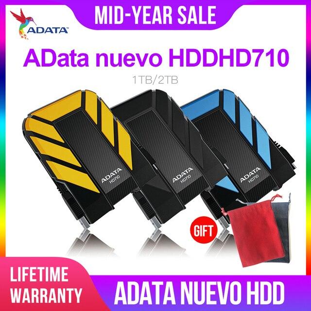 AData New External HDD 1TB 2TB HD710 Pro USB3.1 2.5 inch Portable Hard Drive Military Standard Shockproof IEC Dustproof