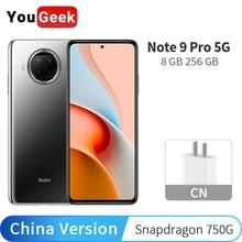 Xiaomi Redmi הערה 9 פרו 5G 8GB RAM 256GB ROM נייד טלפון Snapdragon 750G אוקטה Core 108MP מצלמה 6.67 ″ 120Hz CN גרסת NFC