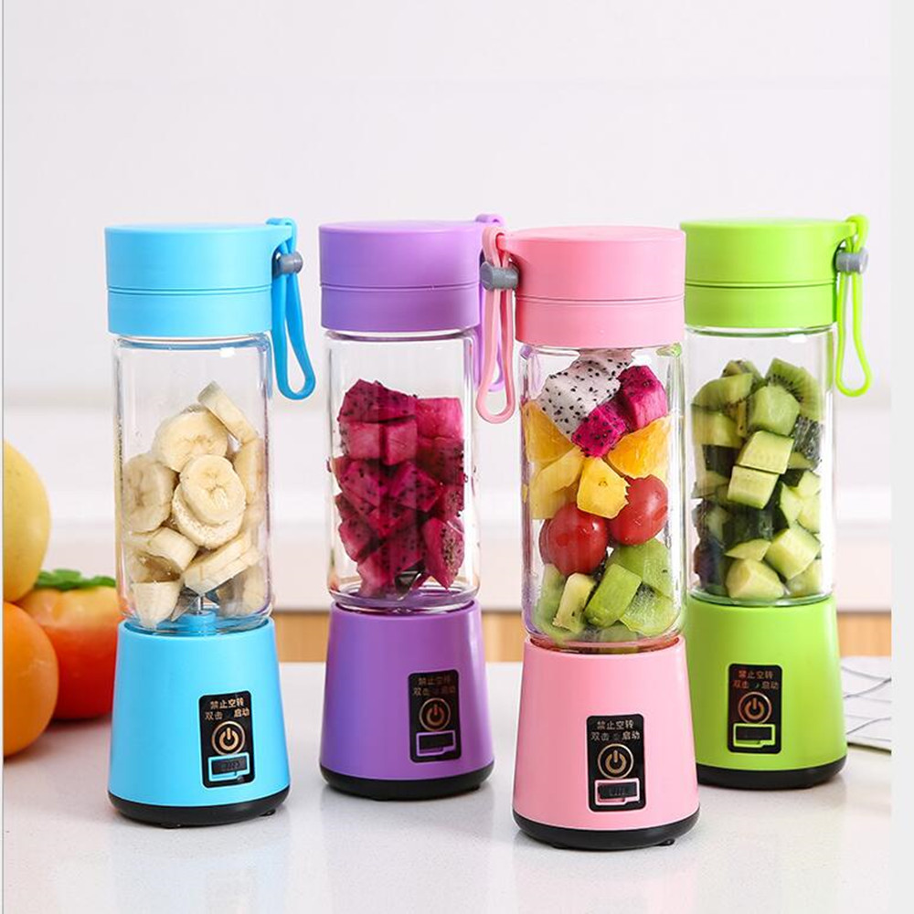 380ml Portable Juice Blender USB Juicer Cup Multi-function Fruit Mixer Six Blade Mixing Machine Smoothies Baby Food