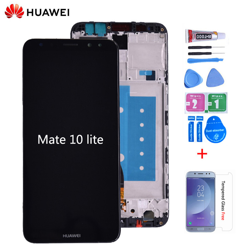 Original For Huawei Mate 10 Lite LCD Display With Touch Screen Digitizer Assembly With Frame Replacement Huawei Mate 10 Lite Lcd