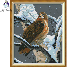 Joy Sunday,falcon,cross stitch embroidery set,Chinese cross stitch pattern,cross stitch needlework,Animal pattern cross stitch цены