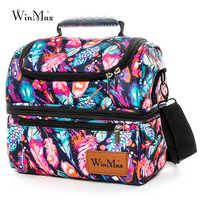 Lonchera térmica Winmax grande, lonchera térmica para mujeres, bolsa de comida Simple y elegante, bolsa de Picnic, bolso, nevera, lonchera aislada