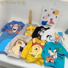 Girls Hoodies Sweatshirts Pullovers Outwear Kids Clothes Cartoon-Pattern Autumn Boys