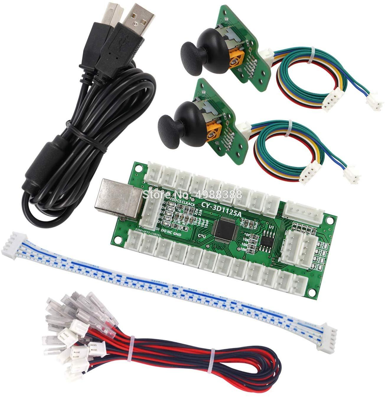 Джойстик, контроллер для аркадных игр, 3D геймпад, аналоговый джойстик, USB, кабель кодирования для ПК, маме, PS3, Android