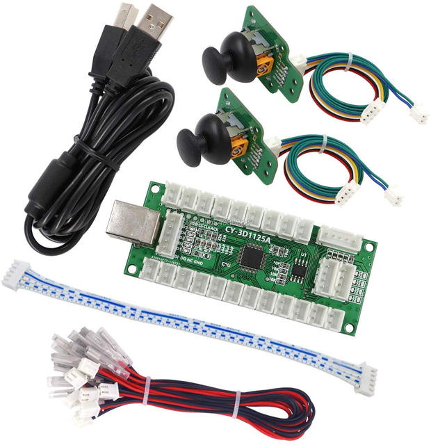 joystick Arcade Game Controller 3D Gamepad Analog Stick Sensor Fly Joystick USB Encoder Cable for PC MAME PS3 Android