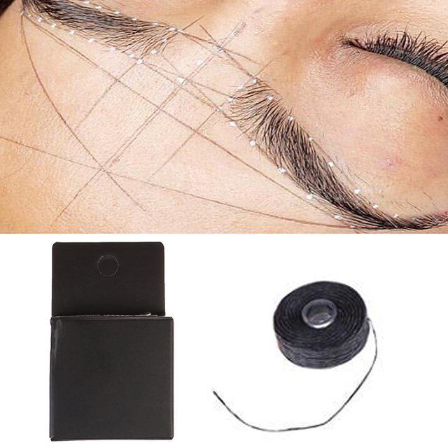 2m Mapping Pre-ink String For Microblading Eyebow Make Up Dyeing Liners Thread Semi Permanent Positioning Eyebrow Measuring Tool 5