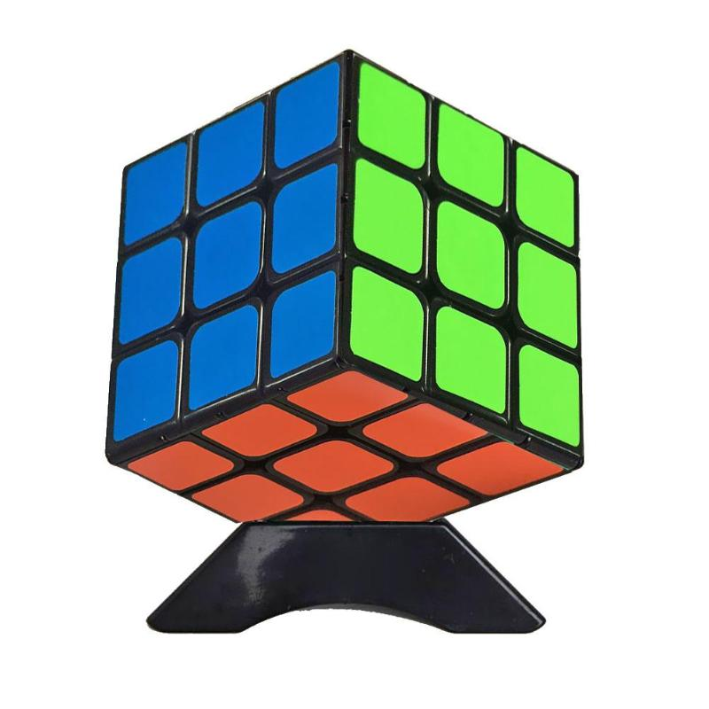 Triangle Cube Stand ABS Plastic Magic Speed Cube Base Color Random Holder Educational Learning Toys Showcase Accessory
