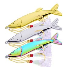 Metal Jig Fishing Lure VIB hard Bait 122mm 80g Trolling Bass carp Fishing Spoon Tackle Jigging Lure Deep Sea Saltwater Lures Jig(China)