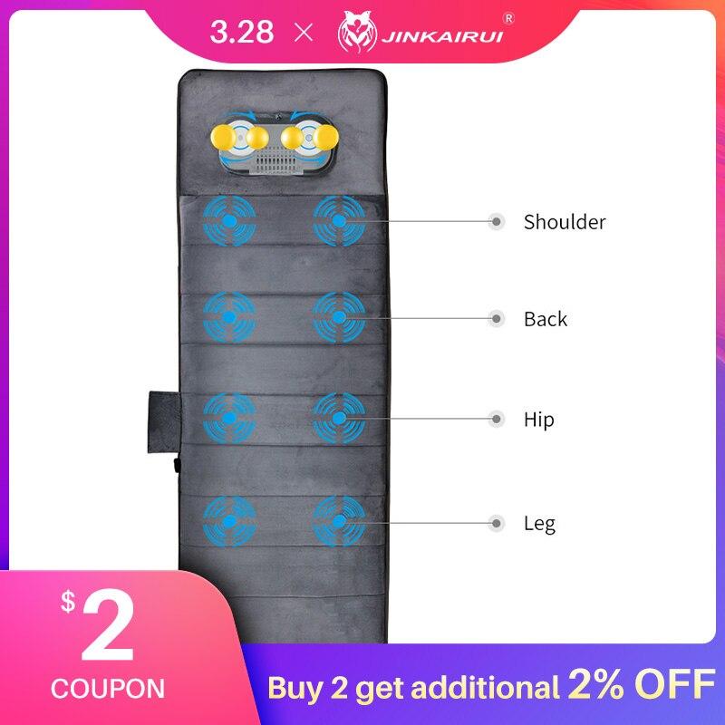 Jinkairui Электрический Вибрационный нагревательный массажер для шеи и тела, матрас, многофункциональный, облегчающий боль, домашний офис, забо