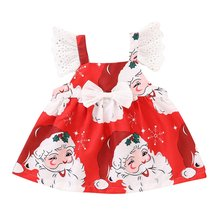 Childrens Santa Claus skirt clothes Cute Korean version wild childrens wear Creative design Best gift for kids
