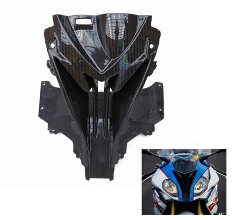 For BMW S1000RR front cabin front nose cover intake hole carbon fiber paint fairing motorcycle protection cover motorcycle 15-18 image