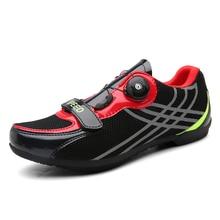 Men Sneakers Road-Cycling-Shoes Bicycle Mountain-Bike Non-Locking Professional Racing