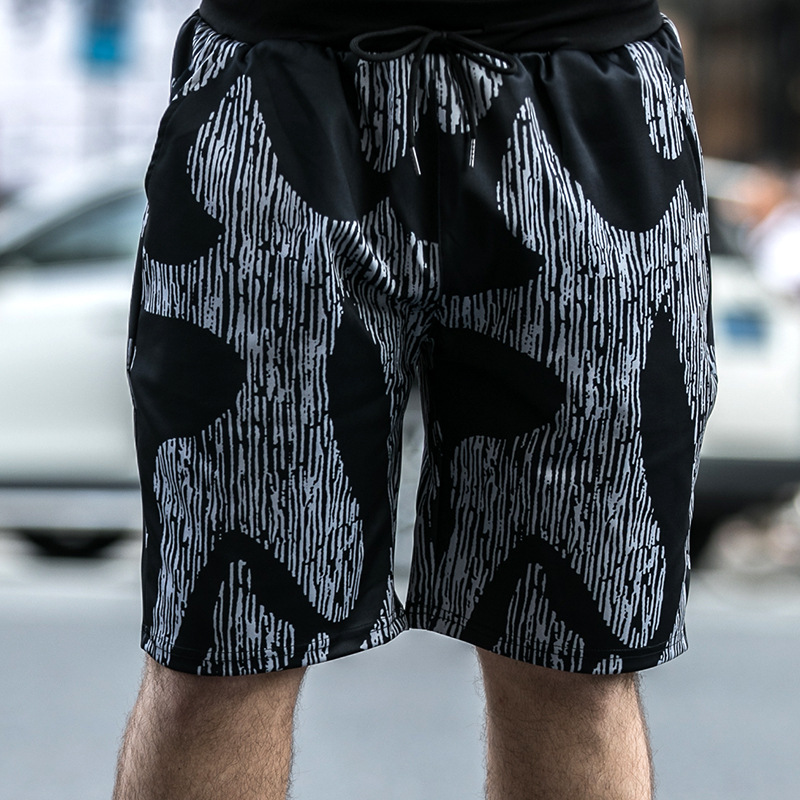 Men's Clothing Plus Fertilizer To Increase Printing Casual Trend Shorts Seaside Beach Quick-drying