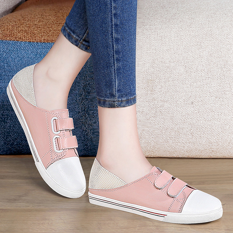 2020 Spring New Style Casual Flat Top Shoes White Shoes Pregnant Women WOMEN'S Shoes Slip-on Loafers Wise Horse 3325