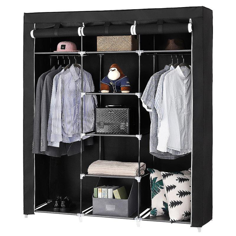 Шкаф для хранения одежды из нетканого материала, складной шкаф для спальни, пылезащитный влагостойкий шкаф, мебель для хранения, HWC