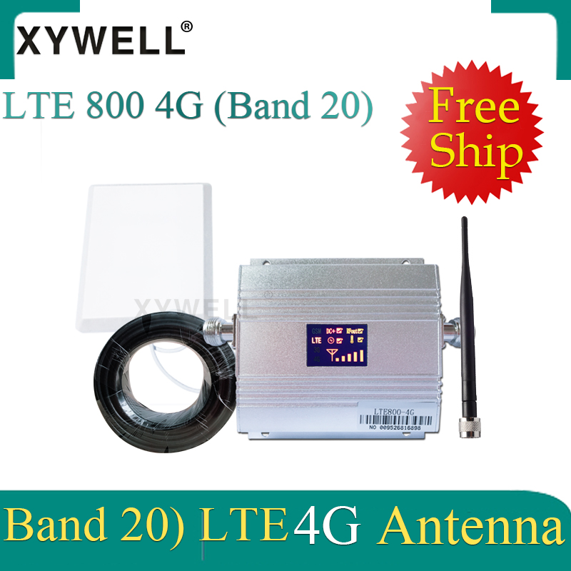 Europe 4G Signal Booster Band 20 LTE 800MHz Mobile Signal Booster 4g Cell Phone Amplifier 4G Cellular Signal Repeater 4g Antenna