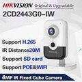 Hikvision DS-2CD2443G0-IW CCTV Wi-Fi камера видеонаблюдения 4MP ИК фиксированный куб Беспроводная ip-камера двухстороннее аудио H.265 +