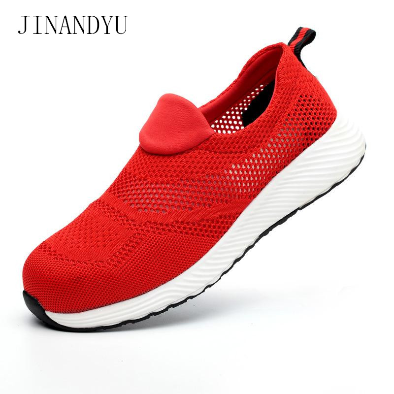 Breathable Summer Unisex Steel Toe Work Safety Shoes Men Loafers Safety Sneakers Work Shoes Women Men Safety Boots Work Boots in Work Safety Boots from Shoes