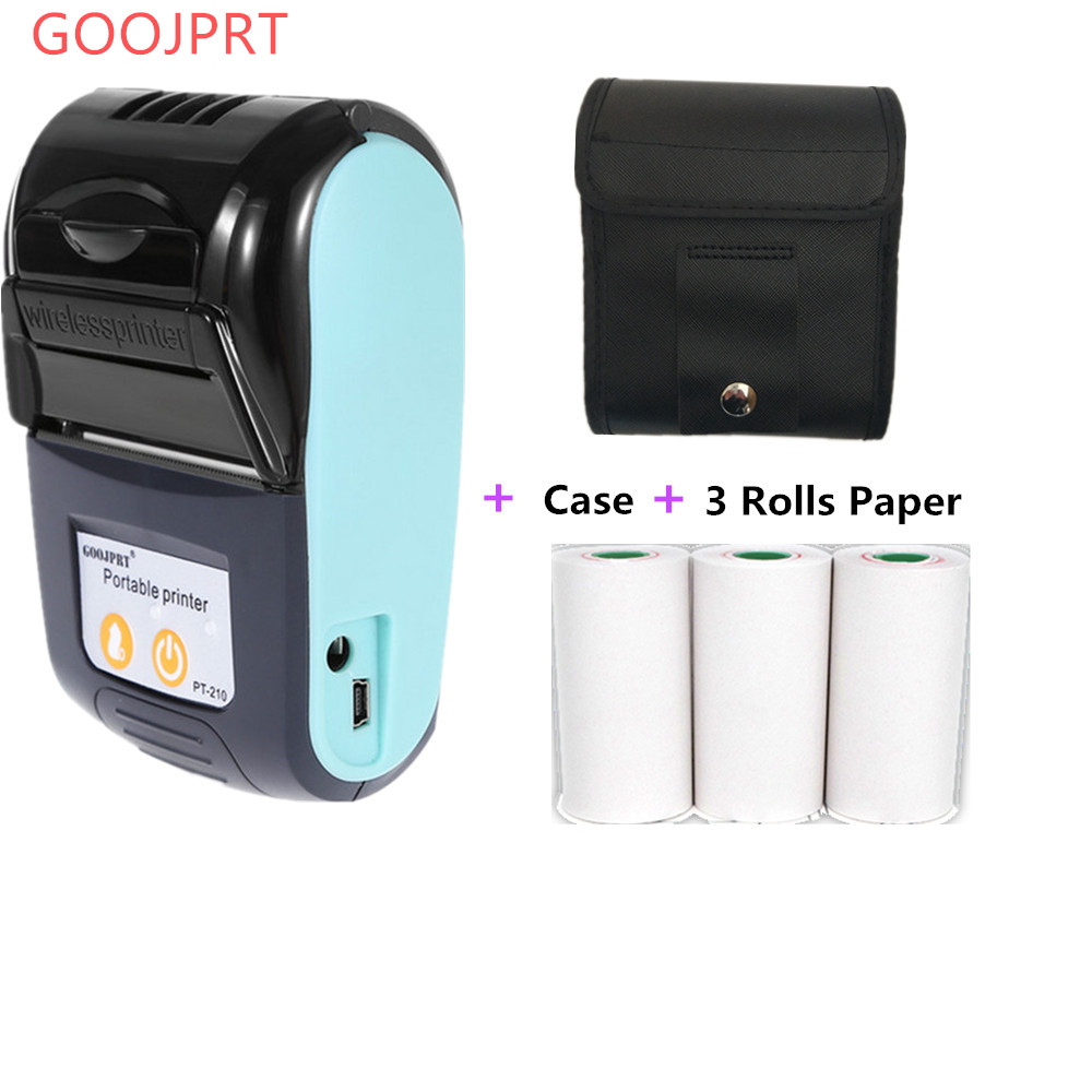 Goojprt Wireless Mini 58mm Bluetooth Portable Printer Thermal Receipt Printer For Mobile Phone Android Ios Windows Pocket Bill