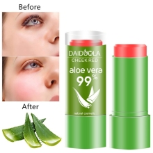 99% Aloe Vera Blush Stick Lasting Natural Waterproof Oil Control Cosmetic Facial Beauty Mak