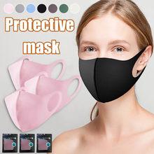 3 pçs máscara preta lavável 3 camada saúde ciclismo-algodão boca máscara facial ou homem mulher reutilizável mondkapjes wasbaar faceshield 10.20