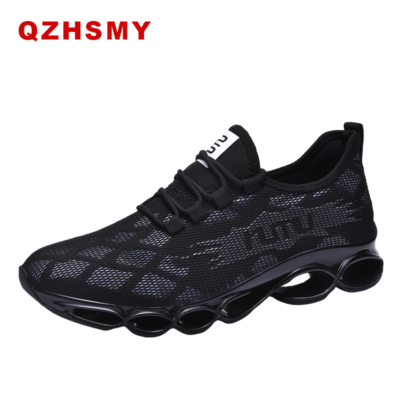 New 2019 Running For Men Shoes Comfortable Summer Breathable Sneakers Casual Low Black White Sports Soft Jogging Gym Shoes